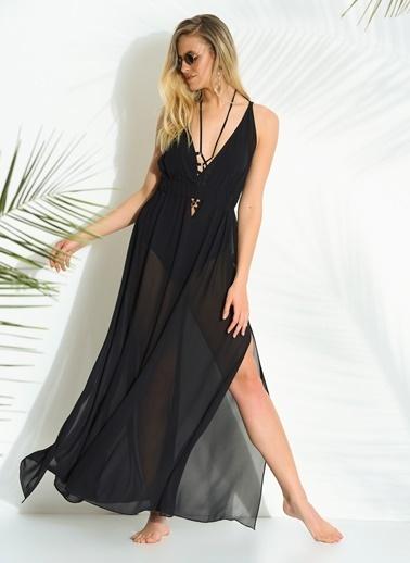 Morhipo Beach Şifon Elbise Siyah